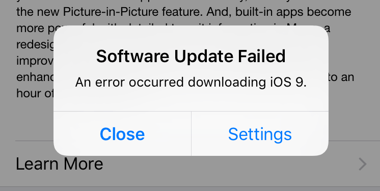 Users reporting early issues updating to iOS 9, GM seed also