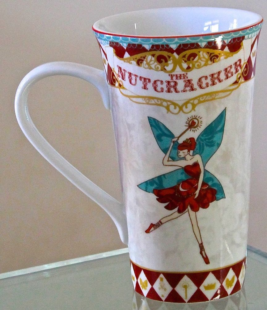 222 FIFTH NUTCRACKER MUG CUP LATTEE COFFEE TEA FAIRY CHRISTMAS PORCELAIN NEW #222FIFTH & 222 FIFTH NUTCRACKER MUG CUP LATTEE COFFEE TEA FAIRY CHRISTMAS ...