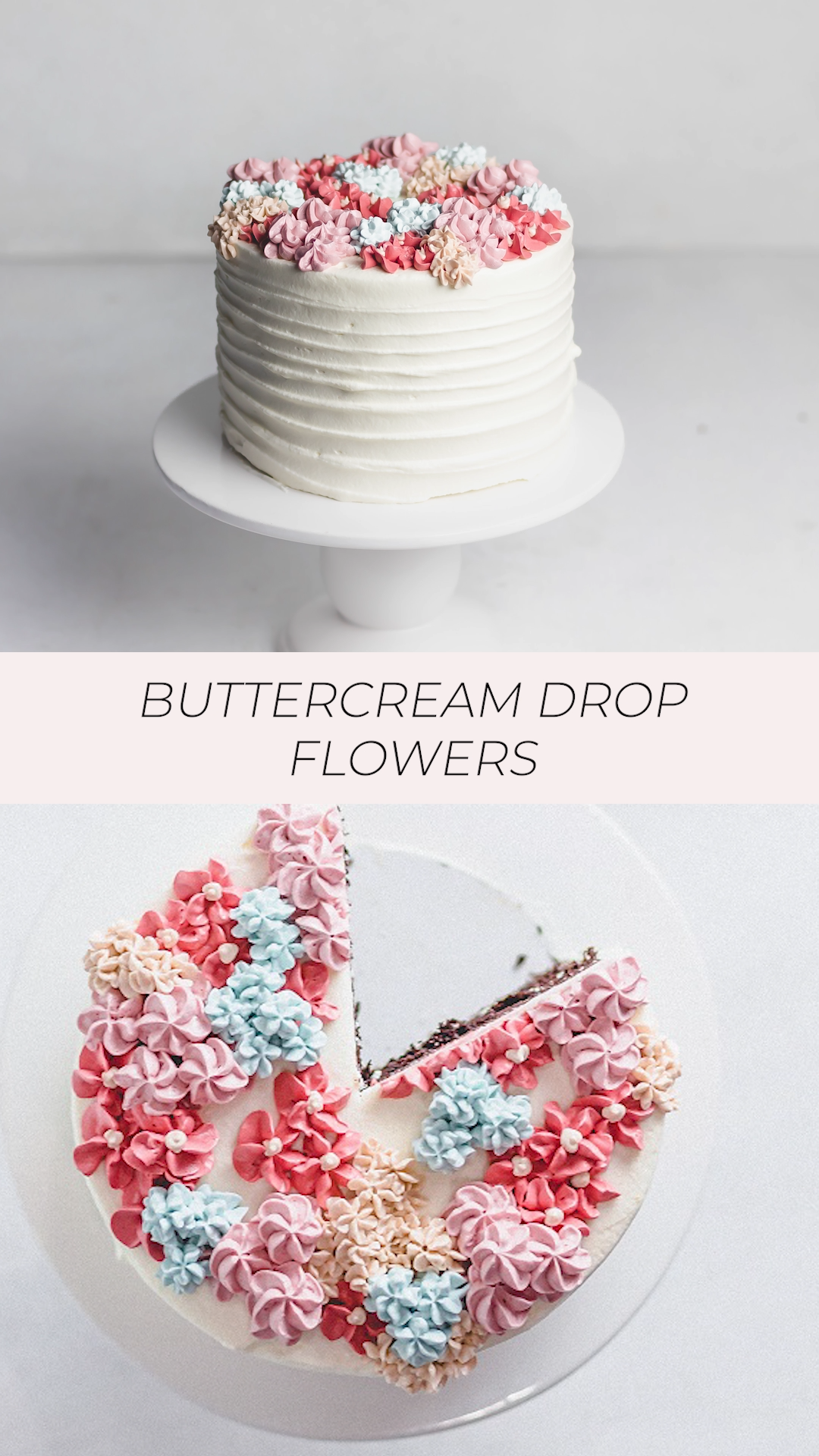 How to Pipe Basic Buttercream Drop Flowers