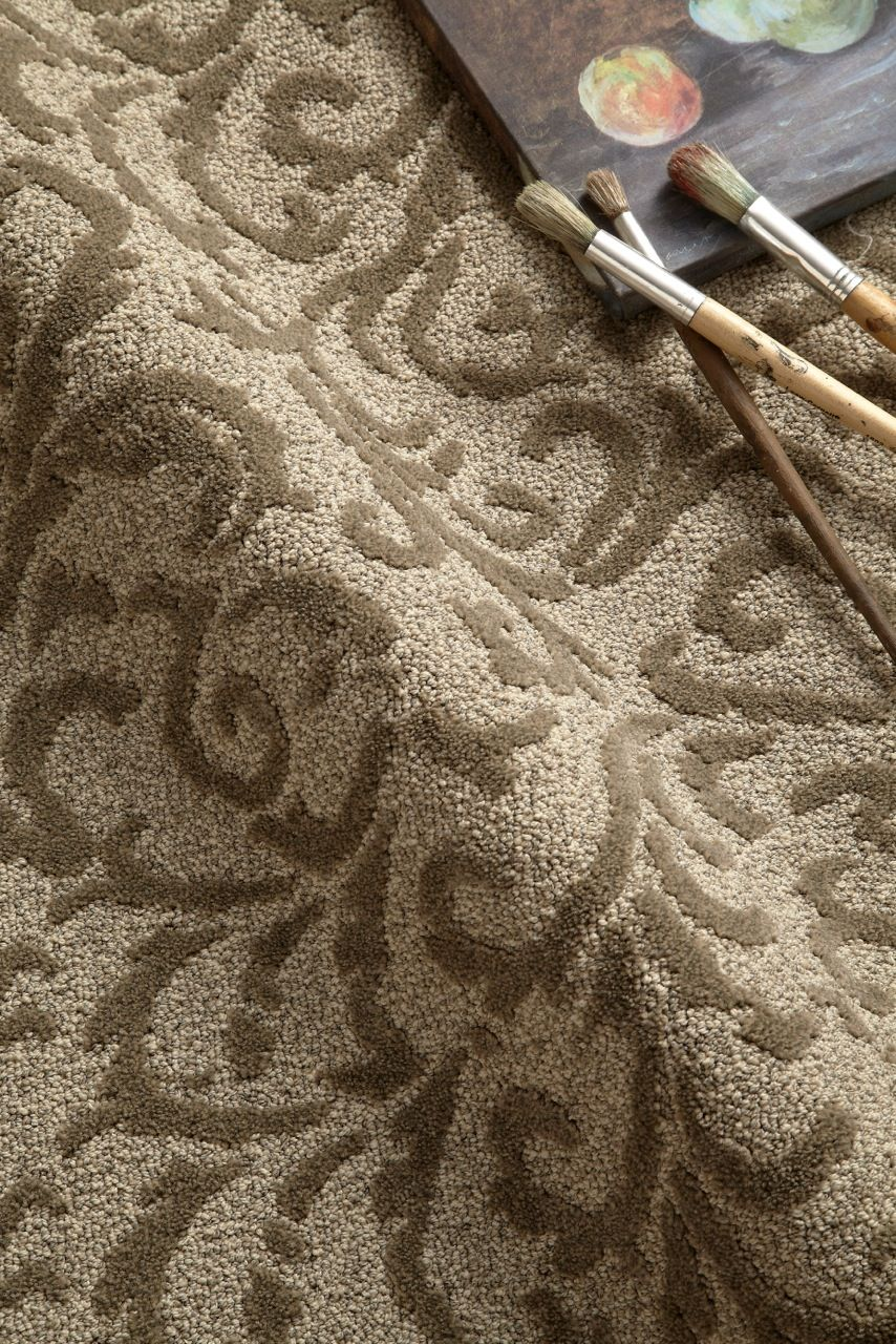 Rave Review a floral damask from Tuftex Carpets of