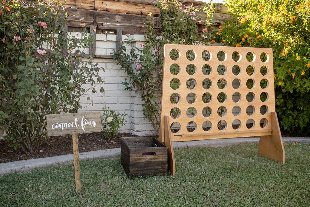 Giant Connect Game Unpainted Wedding Games Backyard Wedding Decorations Reception Games