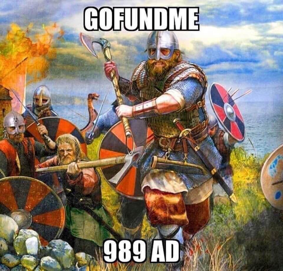 13 Likes 0 Comments Endelos Endelosfolk On Instagram Accurate Sorrynotsorry Throwback Gofundme Oldschool Lol Vikings V In 2020 Go Fund Me Norse Vikings