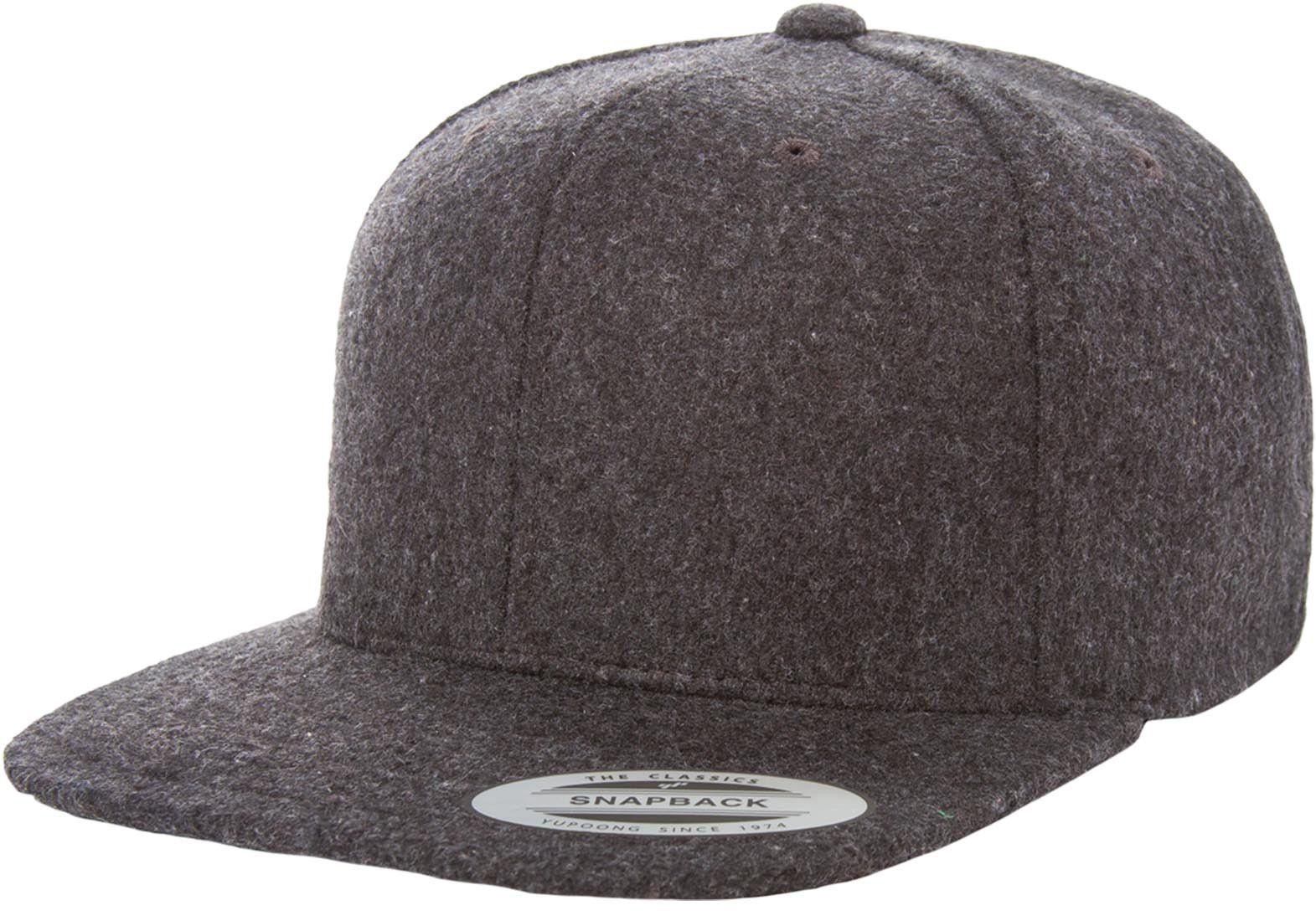 022e4cdab9d Flexfit Yupoong 6689M Melton Wool Snapback Hat Wholesale  Dark Grey ...