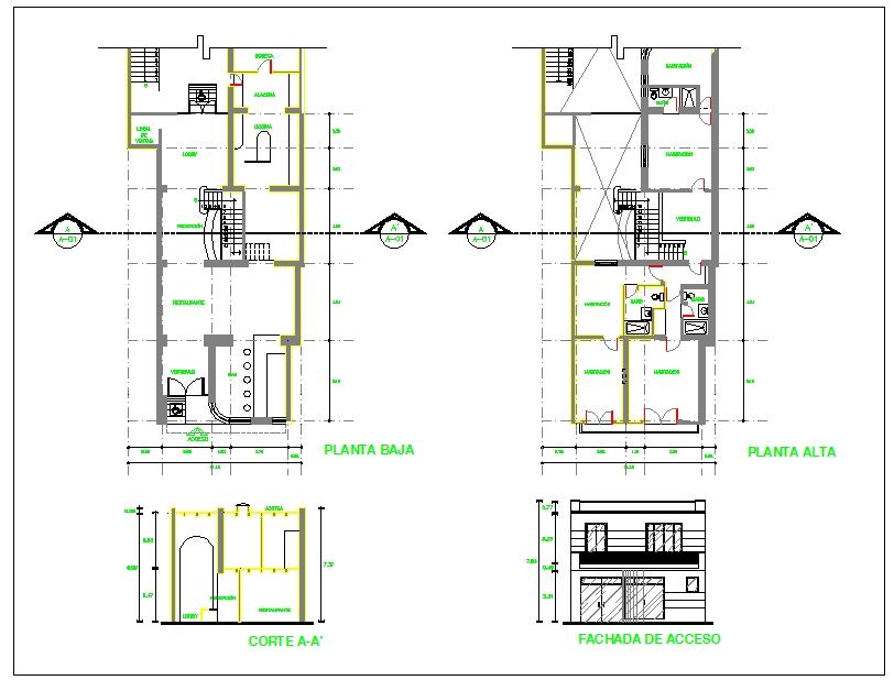 Restaurant design plan Cadbull in 2020 Restaurant