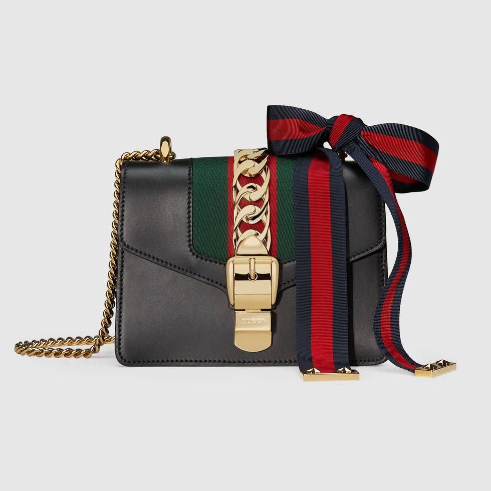 3769d8a7544212 Sylvie leather mini chain bag | Bag Addiction | Gucci shoulder bag ...