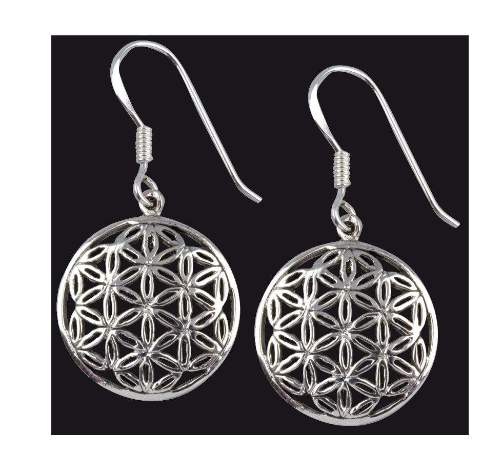 Keltische Ohrringe Ohrhänger Silber Keltische Knoten offen 925er Sterlingsilber