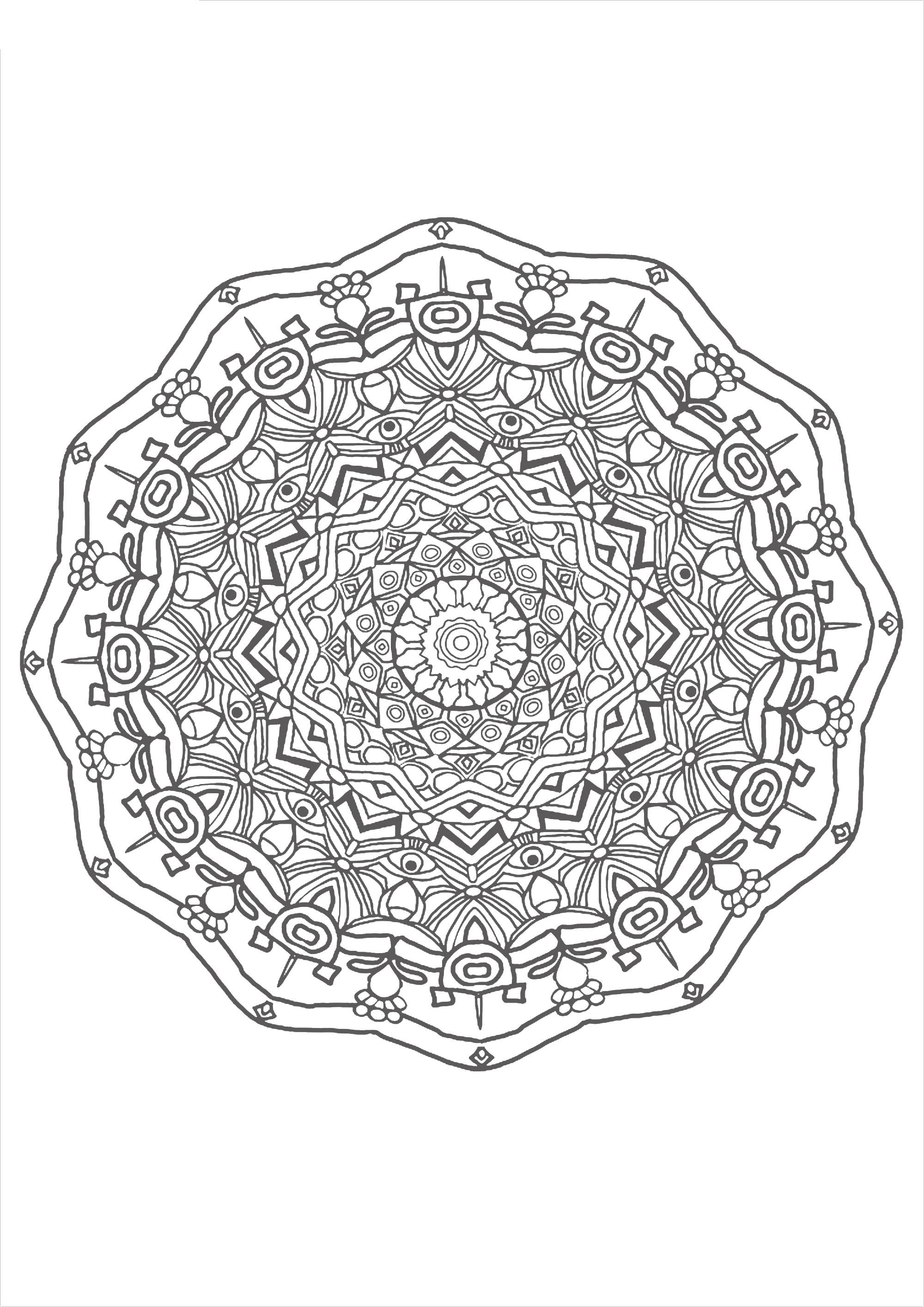 Узоры в круге | Раскраски, Узоры, Мандала