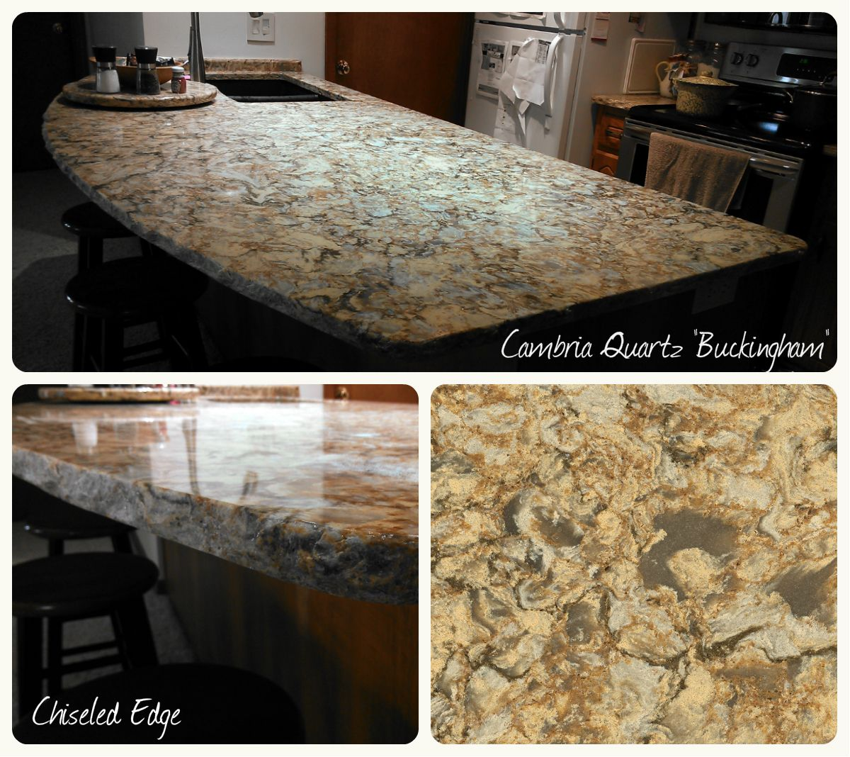 Cambria Quartz, Buckingham, Chiseled Edge [Copper River Cabinet Company]