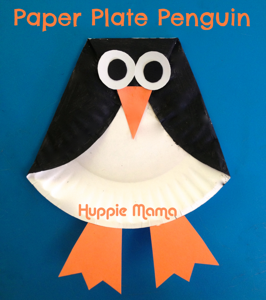 Kids craft paper plate penguin animal learning for Penguin project