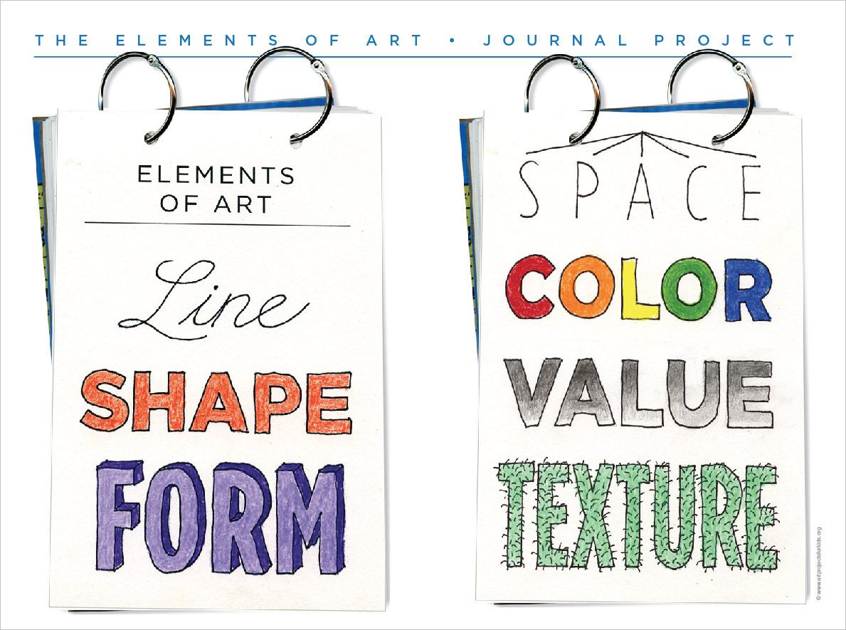 Elements And Organization Of Visual Arts : New elements of art template lessons