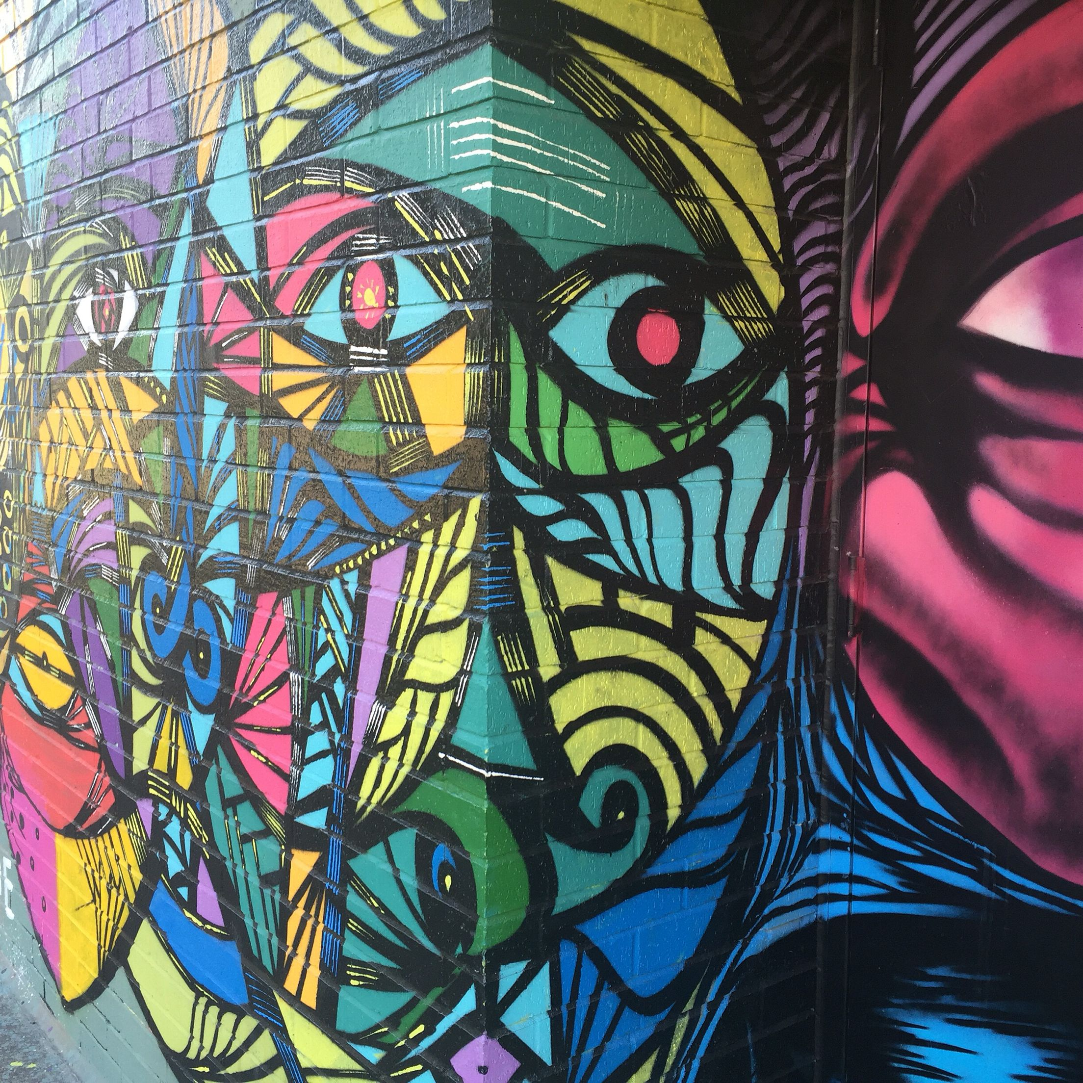 Midtown Houston graffiti mural artwork. (With images