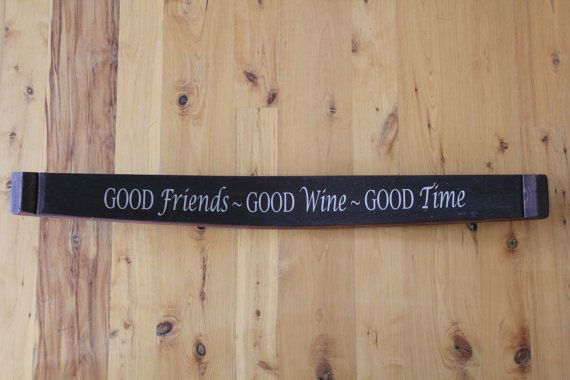 Wine Stave Decorative Sign by RockCreekFurnitureCo on Etsy, $49.00