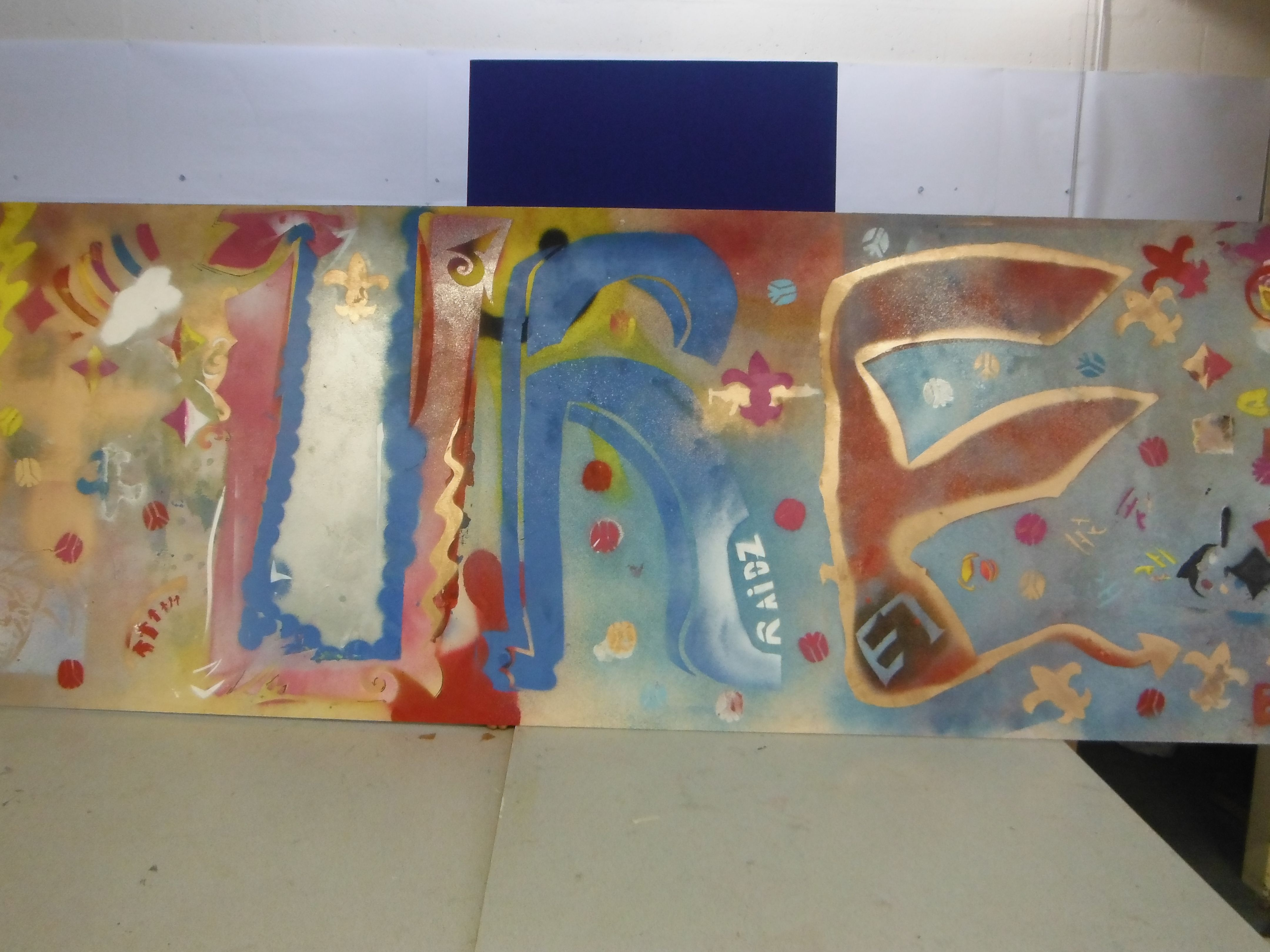 Year 8 graffiti club work example as displayed at the ks3 art exhibition march 2015