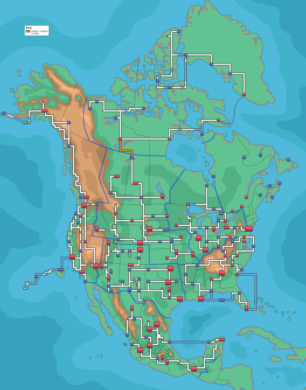 The Map Of North America If Pokemon Were Real The Map New - Map of north america vancouver