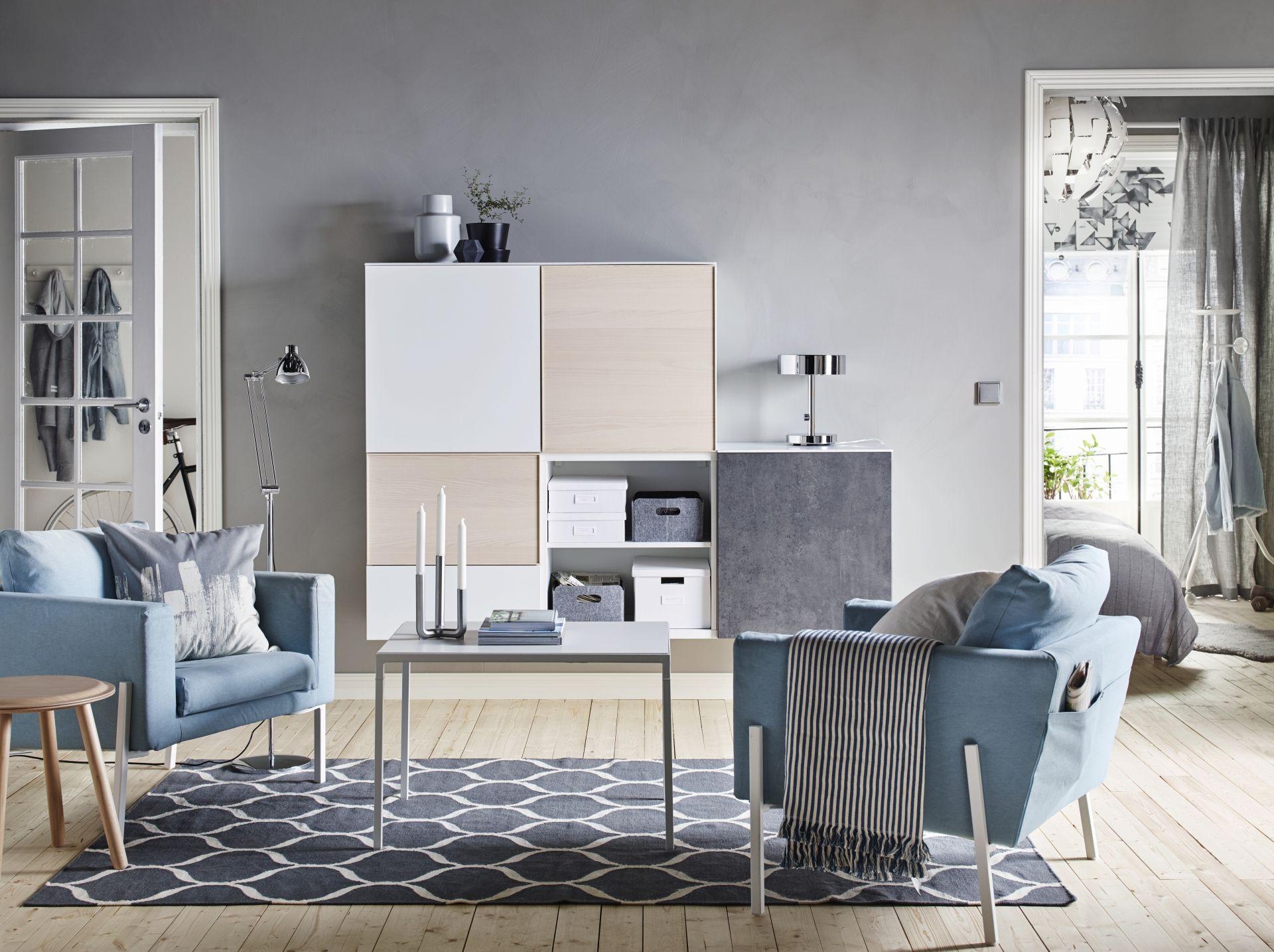 KOARP Fauteuil, Orrsta lichtblauw, wit | Ikea interior, Interior ...