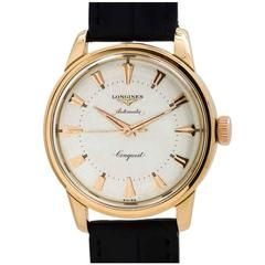 Longines Rose Gold Conquest Wristwatch