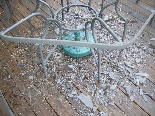 Replacement patio table tops do it yourself use a 36 round patio replacement patio table tops do it yourself use a 36 round patio table replacement top cut in half for top of window wells solutioingenieria Choice Image