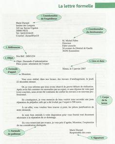 Faites Clic Et Telechargez Le Pdf Si Cela Vous Interesse Savoir Rediger Une Lettre Formelle Lettre A Lettre En Francais Classe De Francaise