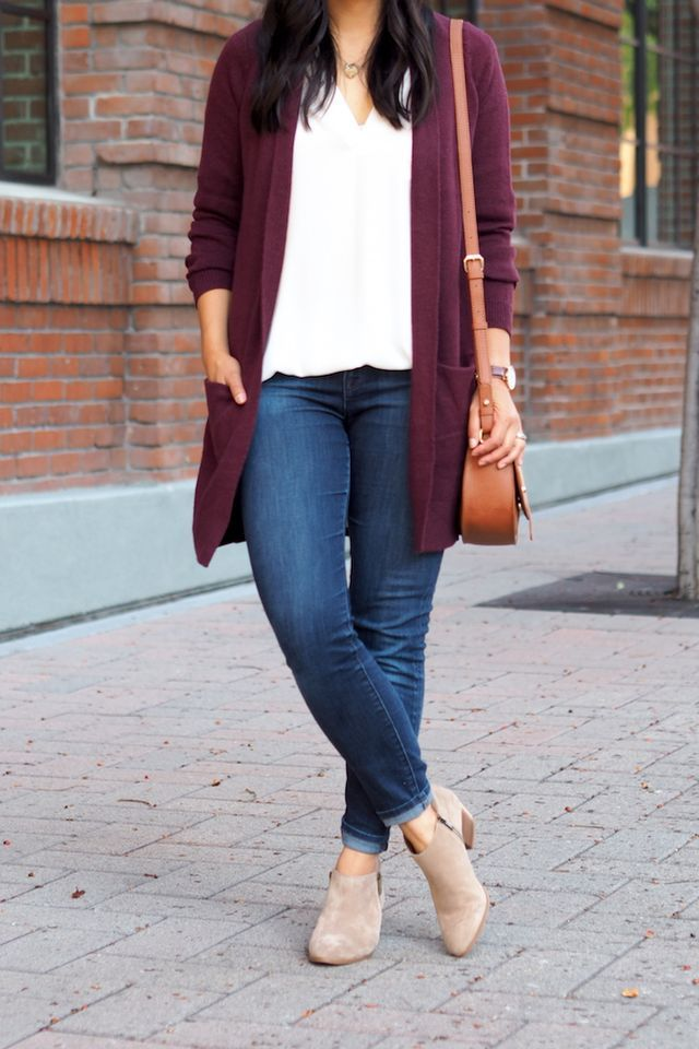 f222d6d8ea5 3 Ways to Wear a Maroon Cardigan (Putting Me Together)