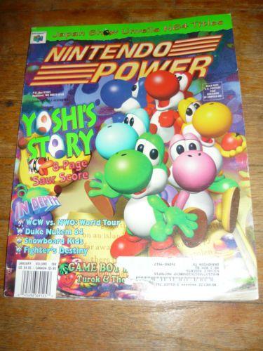 Nintendo Power Magazine W Poster 104 January 1998 Calendar