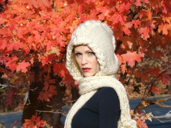 Winter Scarbon Yarn Pinterest Winter Hooded Scarf Pattern And