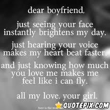 Dear boyfriend quotes