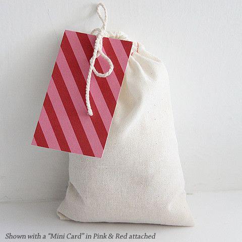 "Drawstring Bag & ""Mini Card"" via The Penny Paper Co."