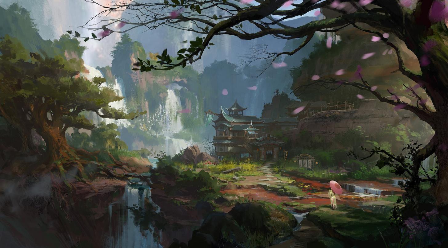 Japan Trip Refs Fantasy Concept Art Environment Concept Art Landscape Art