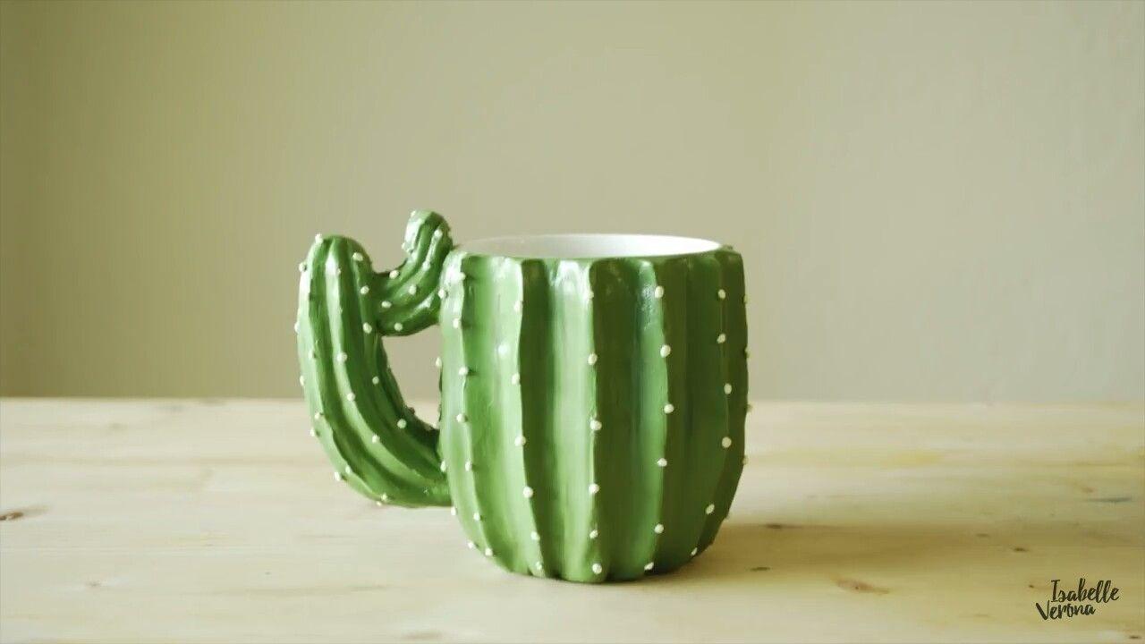 Inspiração diy caneca de cacto ceramics pinterest cacti