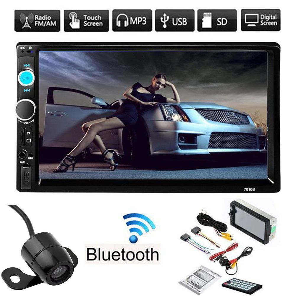 7 Double 2din Car Mp5 Mp3 Player Bluetooth Touch Screen Stereo Radio
