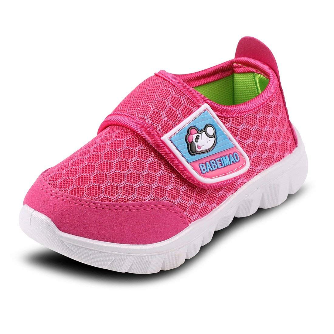 5d6e5d727f0348 Baby Sneaker Shoes for Girls Boy Kids Breathable Mesh Light Weight Athletic  Running Walking Casual Shoes
