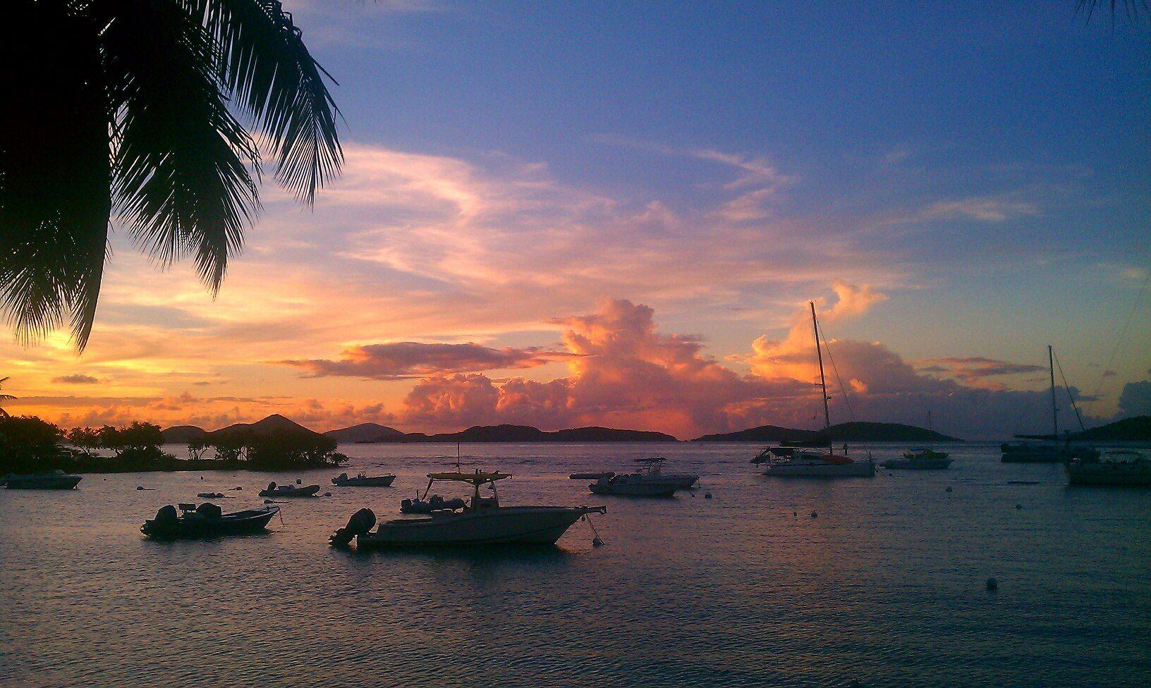 View from Cruz Bay 8/29/12 - St. John, USVI (Caribbean, Virgin Islands)