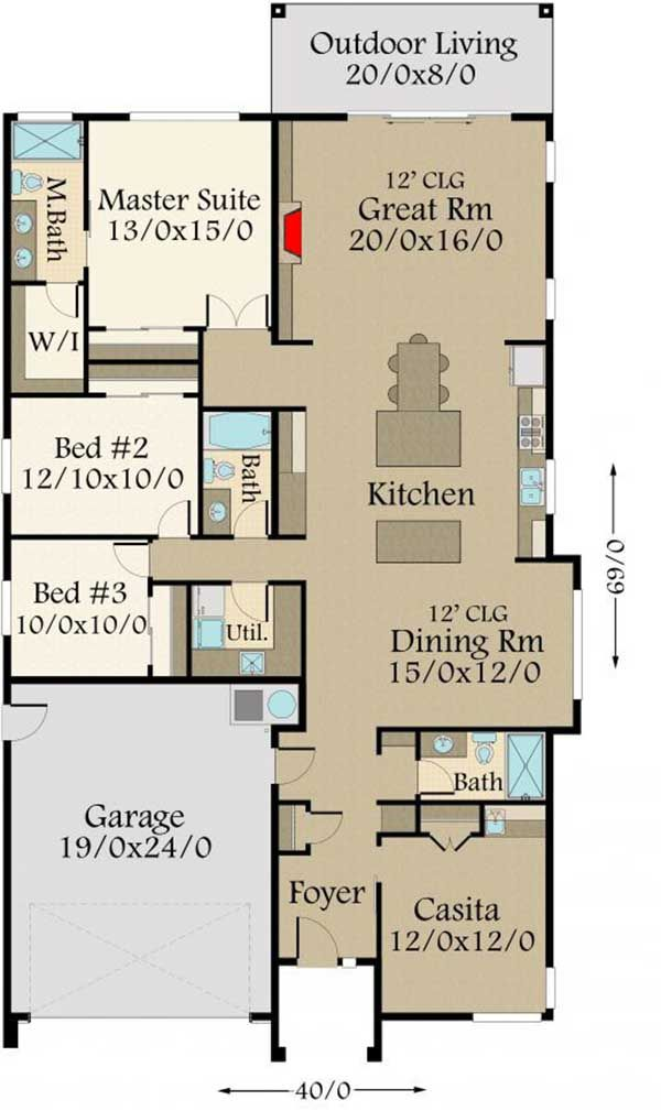 Plan 85198ms Modern House Plan With 3 Beds And Casita Makes 4 Modern House Plan Industrial House Plans House Plans