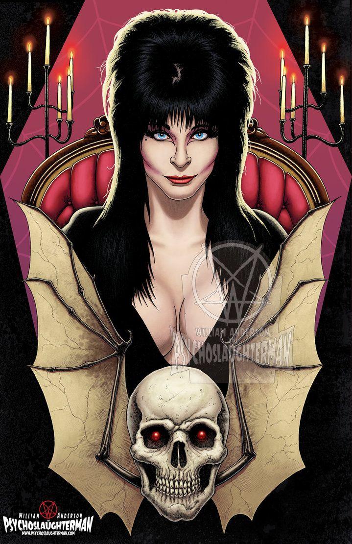Elvira Mistress Of The Dark By Psychoslaughterman Horror Art