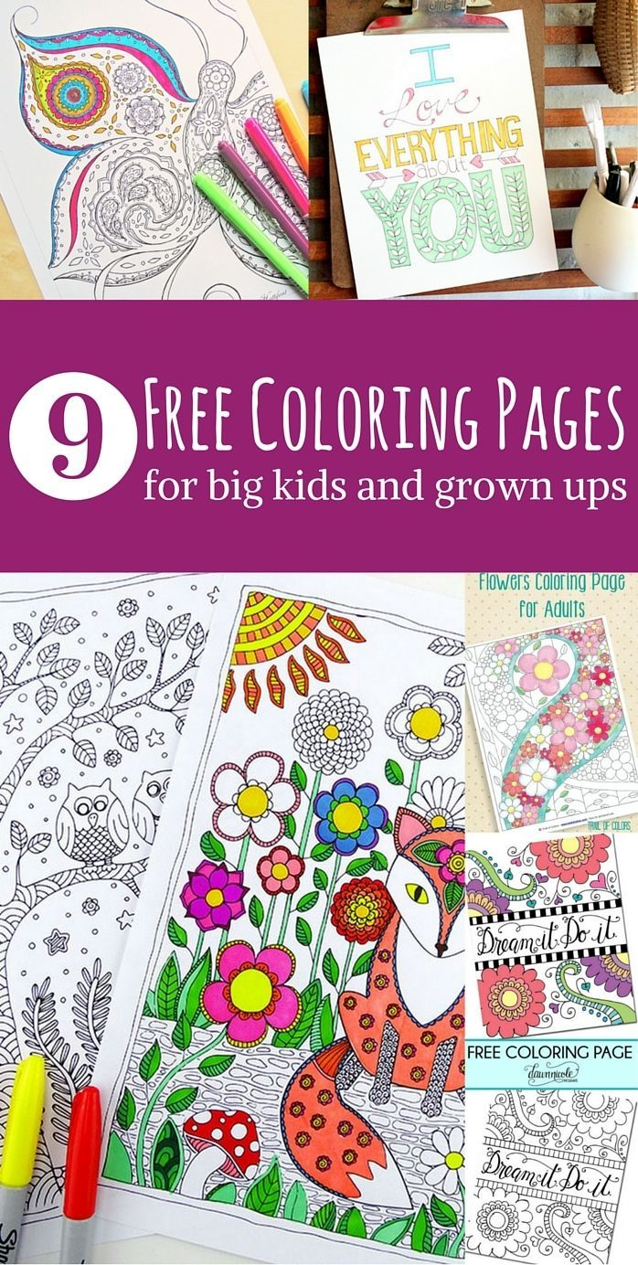 Free Adult Coloring Page Roundup | Páginas para colorear, Colorear y ...
