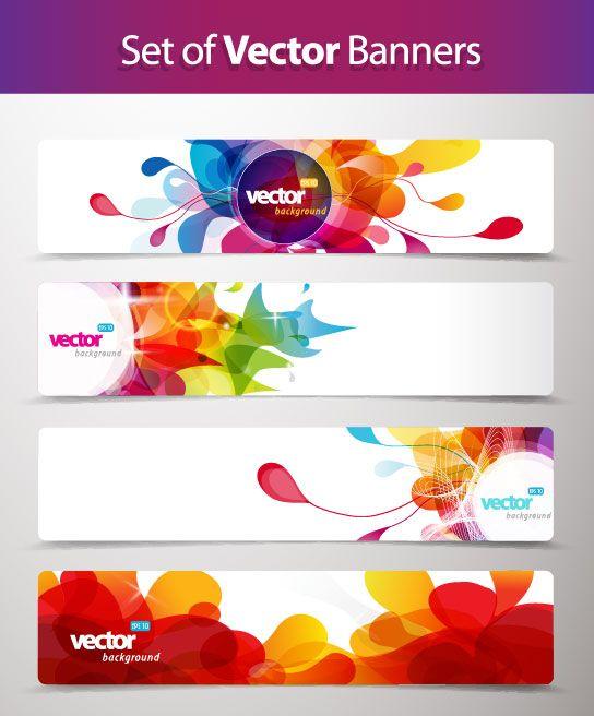 Abstract Creative Banner Free Vector 01 Creative Banners Banner Vector Vector Free