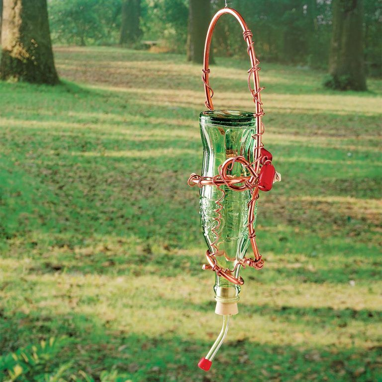 How to Make a Glass Bottle Hummingbird Feeder in 2020
