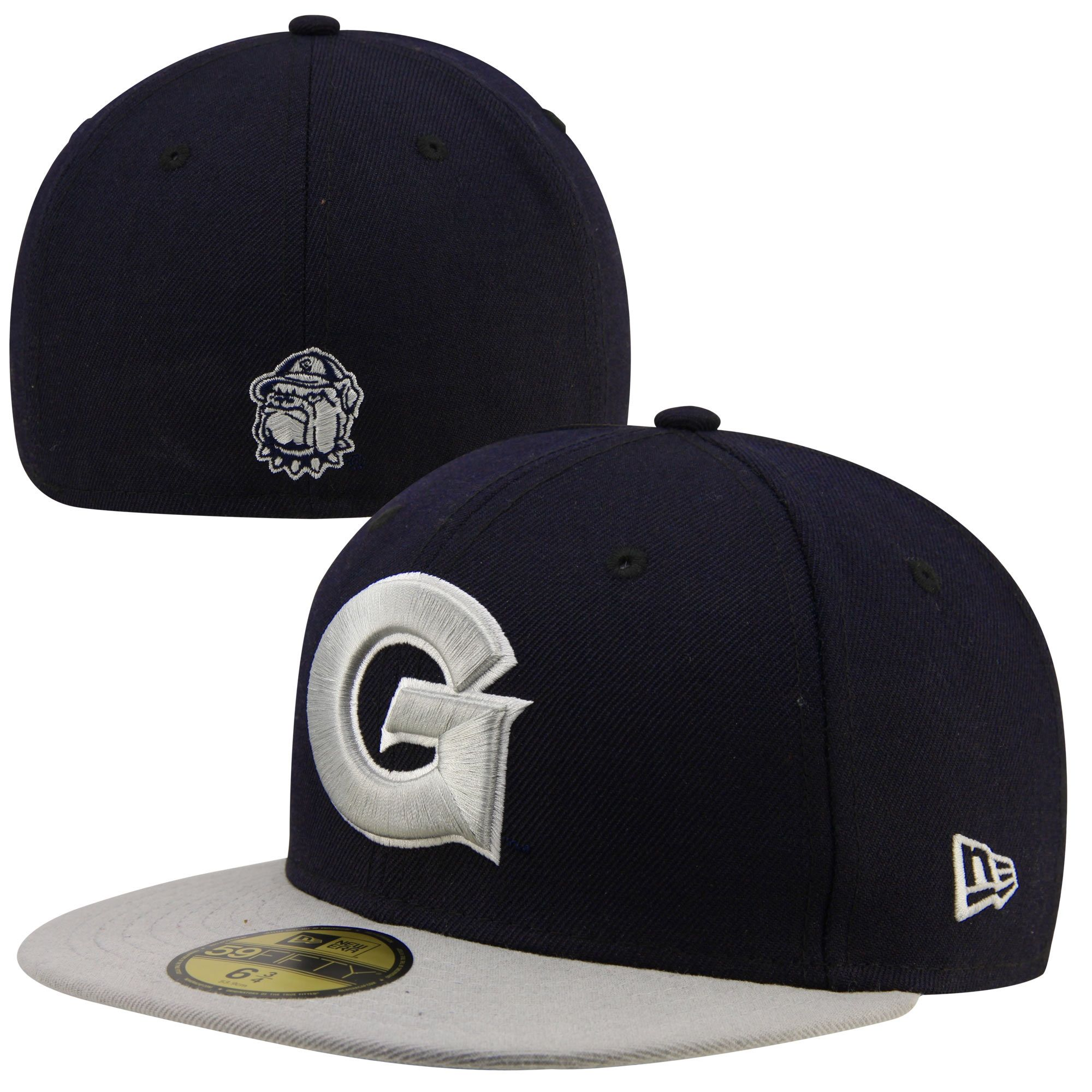 buy popular 6929b 75329 New Era Georgetown Hoyas 2-Tone 59FIFTY Fitted Hat - Navy Blue