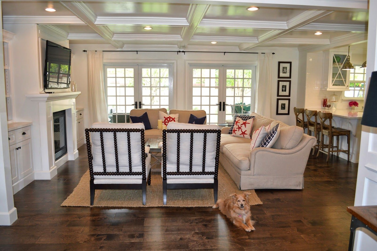 The cape cod ranch renovation great room entry living for Cape cod remodel ideas