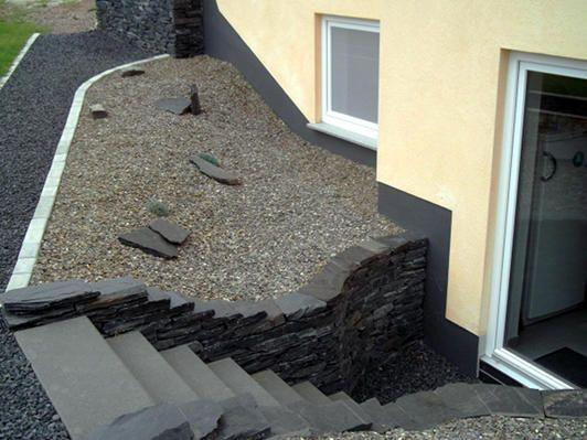 Garten   Trockenmauer   Schiefer Naturstein   Rock Wall