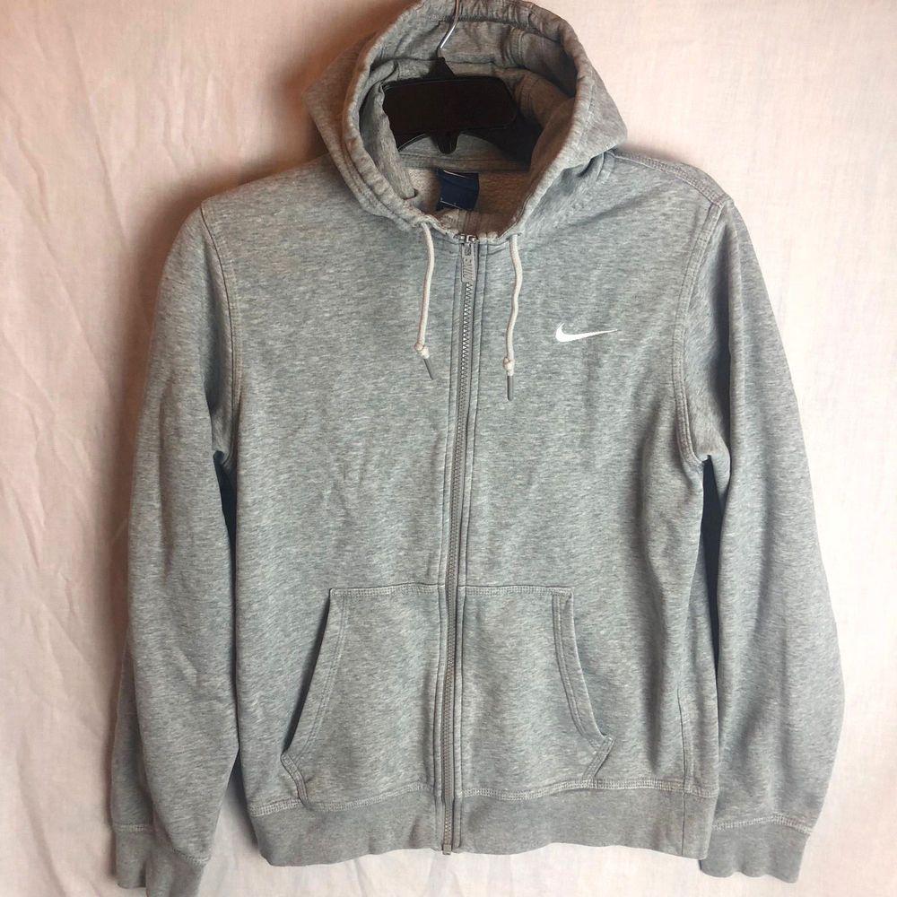 Zip Club Full Nike Hoodie Size Small Mens Swoosh GrayNike wZXuOPkiT