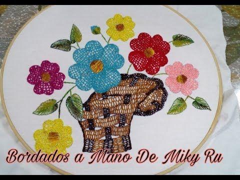 Bordado Fantasia Puntada Para Rellenar Florecitas Pequenas Y