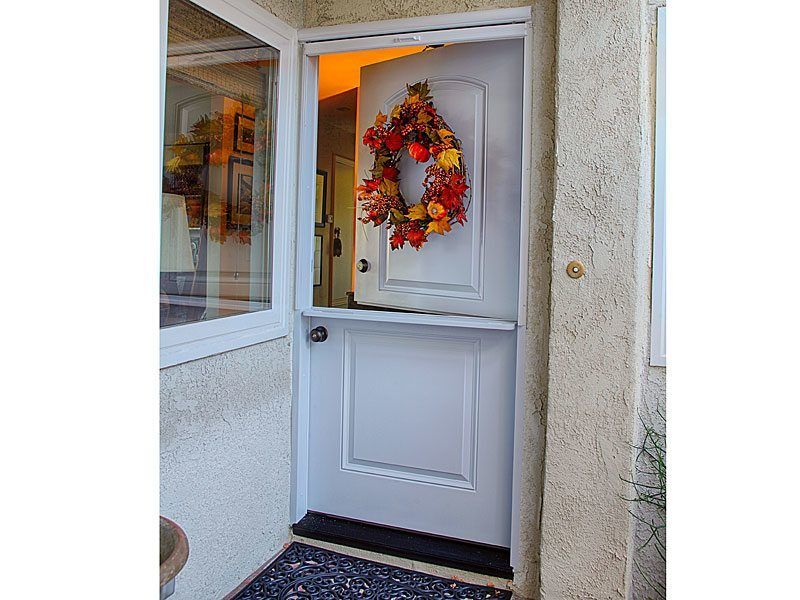36 Inch Single Dutch Door With Vanishing Screen Plastpro Model Drs2d Smooth Surface Painted White Installed In Anaheim Hills Ca Home