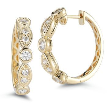 Costco Diamond Hoop Earrings Click Below For More Exquisitearrings Http