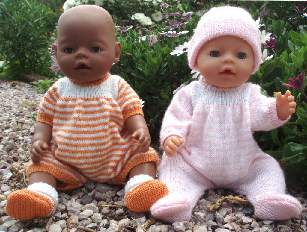 KNITTING PATTERN for making Baby Born Doll Clothes