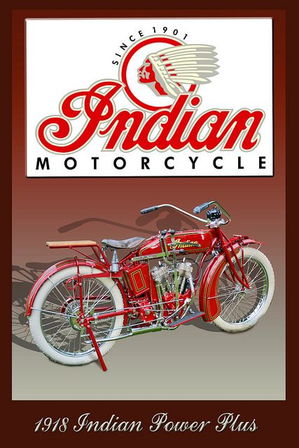 1918 Indian Power Plus ------- This 1918 Indian Power Plus was on display at the…