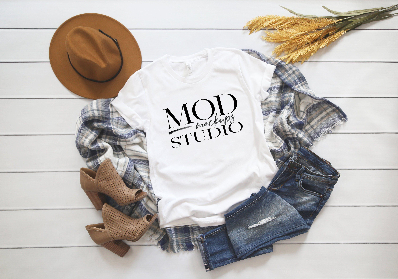 Download Bella Canvas 3001 White T Shirt Mockup Fall Mockup Etsy Shirt Mockup Clothing Mockup Tshirt Mockup