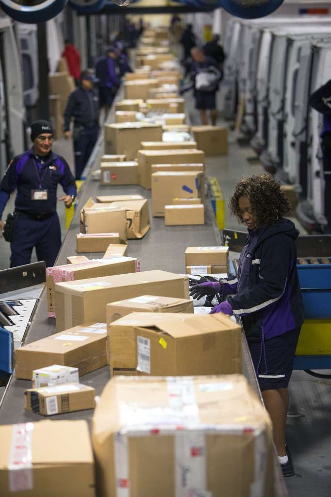 Inside A Fedex Parcel Package Sorting Facility