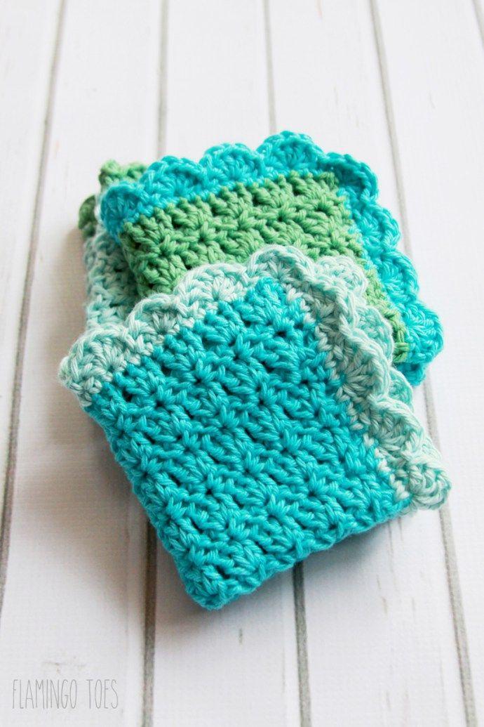 Easy Crochet Dish Cloth Pattern - | Manta, Patrón de ganchillo y ...