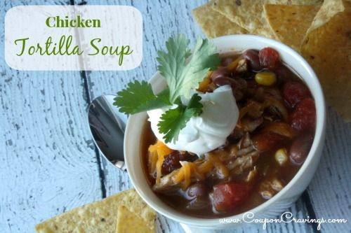 This easy tortilla soup is my go-to recipe once the leaves start to hit the ground in the fall. And, it's one of those crockpot chicken recipes that is so delicious… You could even make this tortilla soup with rotisserie chicken, too! Pin it, you won't regret it!